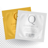 Realistic Gold and White template Packaging