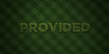 PROVIDED - fresh Grass letters with flowers and dandelions - 3D rendered royalty free stock image. Can be used for online banner ads and direct mailers..