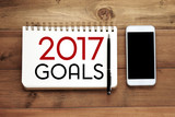 2017 goals word on notebook paper background