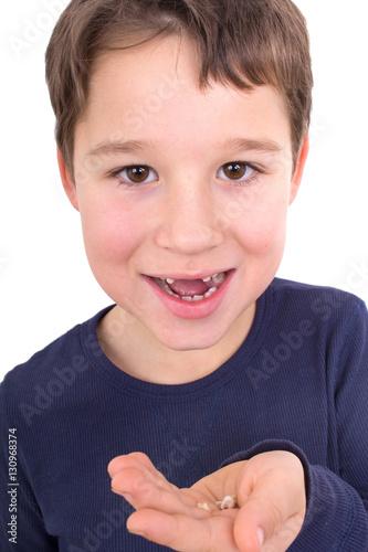 Poster Kleiner Junge ohne Schneidezähne