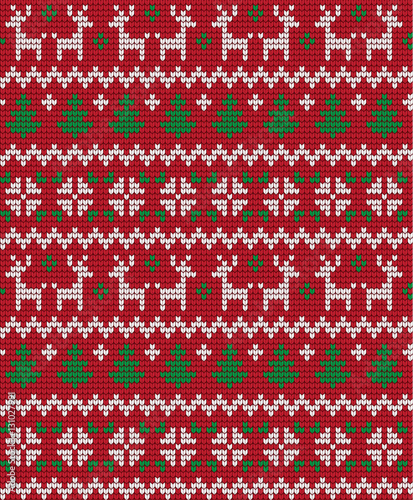 Materiał do szycia Knitted Christmas and New Year pattern