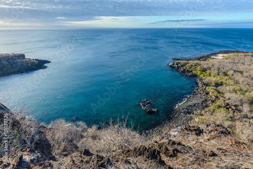 Panoramic view from Cerro Tijeretas, San Cristobal Island, Galapagos, Ecuador Poster