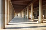Stoa of Attalos (portico) in Ancient Agora, Athens, Greece - 131030783