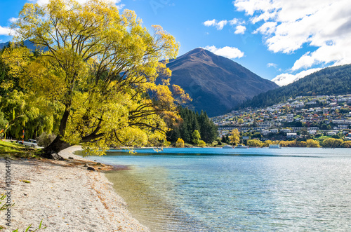 Poster Lake Wakatipu which is located in Queenstown, New Zealand.