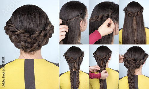 Aluminium Kapsalon hairstyle with braids for party tutorial