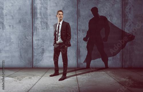 Leinwanddruck Bild Erfolgreicher Geschäftsmann
