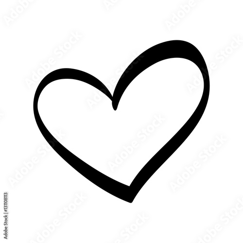 Cute decorative heart icon vector illustration graphic design