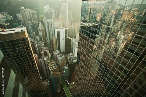 Poster Hong Kong skyscraper panorama