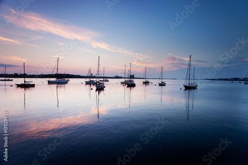 Boats in Boston Harbor Poster