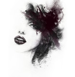 Abstract woman face. Fashion illustration. Watercolor painting - 131133599