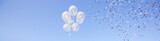 Palloncini che volano e coriandoli alla festa - 131140738