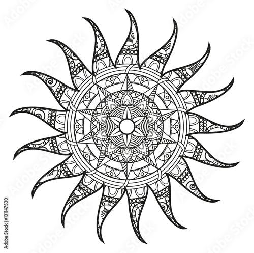 Gamesageddon Vector Illustration Of Childrens Footprint Mandala