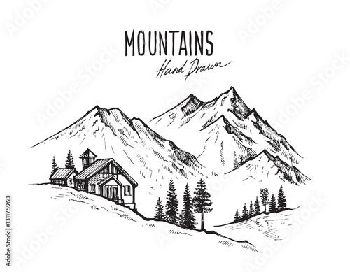 mountain landscape vector - 131175960