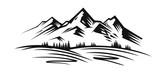 Mountain vector black - 131176326