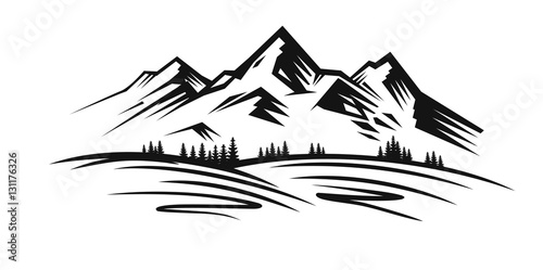 Mountain vector black