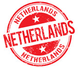 Netherlands vector stamp