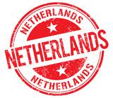 Netherlands vector stamp
