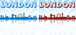 London Skyline Silhouette sun rays