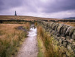 Stoodley Pike is a 1,300-foot hill in the south Pennines, noted for the 121 feet Stoodley Pike Monument