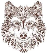 Głowa psa projekt graficzny