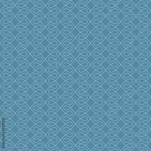 Neutral Seamless Linear Flourish Pattern in Niagara color - 131207592
