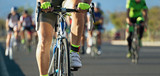 Fototapety Cycling competition,cyclist athletes riding a race at high speed