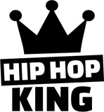 Hip hop king with crown - 131231325