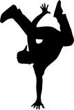 Hip hop dancer silhouette - 131231334