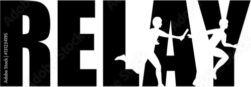 Relay word with silhouettes