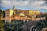 View of the Alhambra in Granada, Andalusia, Spain