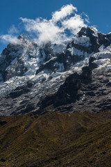 Epic Andes Mountain Peaks with clouds
