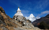pagoda tibet, tibet pagoda in the Himalaya, napal