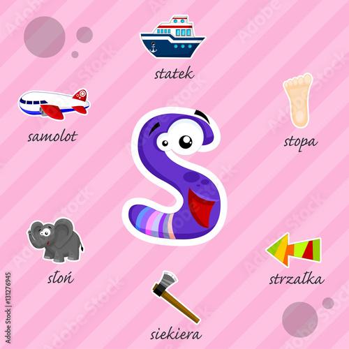 Literka S i słowa z nią związane - 131276945