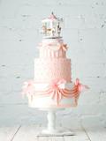 Wedding Cake with merry-go-round on top