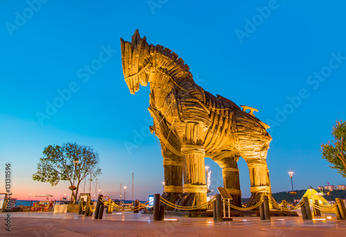 Poster Trojan horse, Canakkale Turkey
