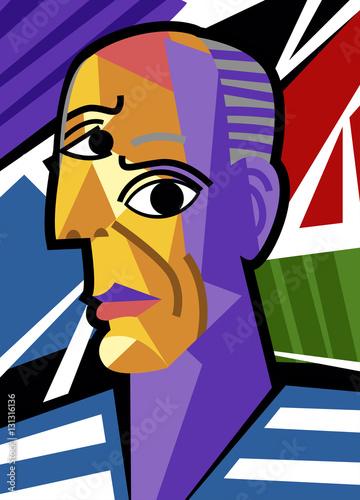 great cubist painter portrait - 131316136