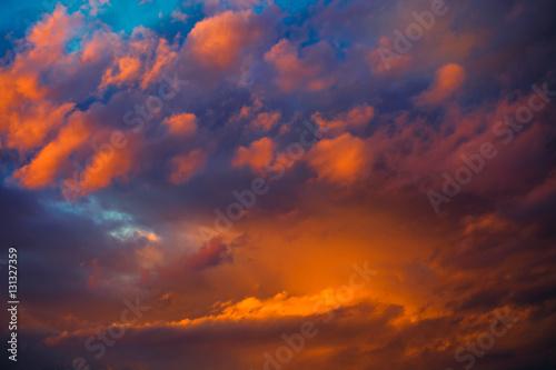 beautiful dramatic winter cloudscape