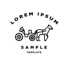 Horse Carriage Minimal Sign  Design Sticker