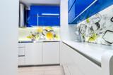 Blue and white kitchen - 131337904