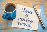 Take a coffee break napkin concept - 131352114