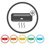 Air conditioner sticker set