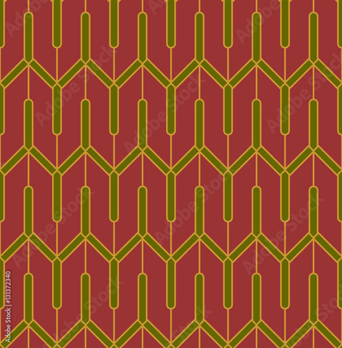 Naklejka Seamless Art Nouveau Background.Global color used