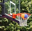 Basketball hoop and ball outdoor