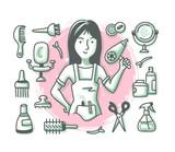 Hairdresser Doodle Profession