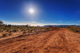 Dirt road through Arizona desert just outside Scottsdale