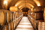 Wine Barrels at napa valley vineyard winery