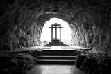 Cruces en el santuario de Covadonga (Asturias, España).