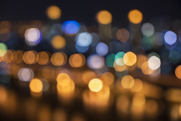 abstract cityscape light bokeh - can use to display or montage on product