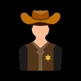 sheriff flat icon
