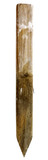 Isolated wooden construction stake. Vertical